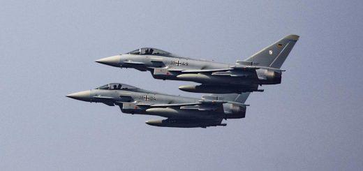 Alman Hava Kuvvetleri'nin iki Eurofighter Jeti düştü