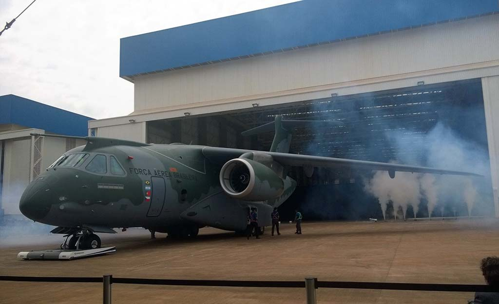 Brazilian Air Force Embraer KC-390 Multi-role support aircraft. (Photo by Embraer)