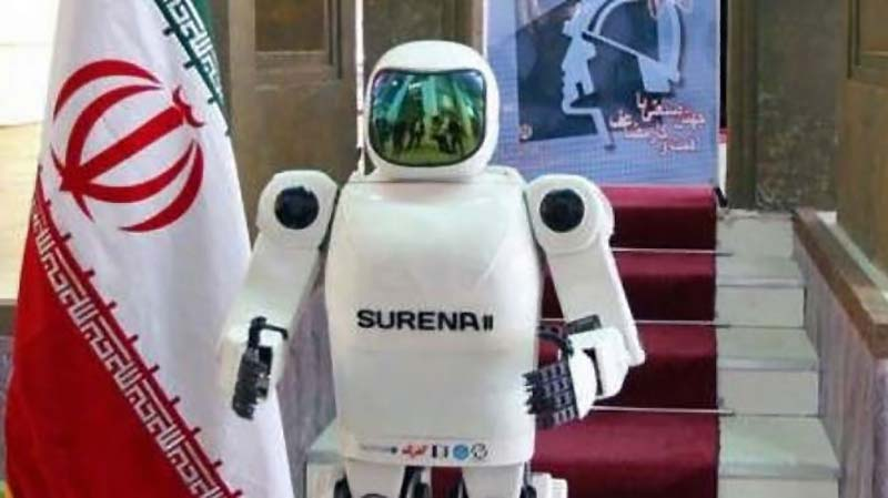 The second-generation version of the Iranian android Surena (Photo by presstv.ir)