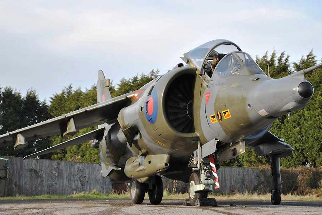 A RAF Hawker Siddeley Harrier GR3 Jump Jet  1976 (Photo by Silverstone Auctions)