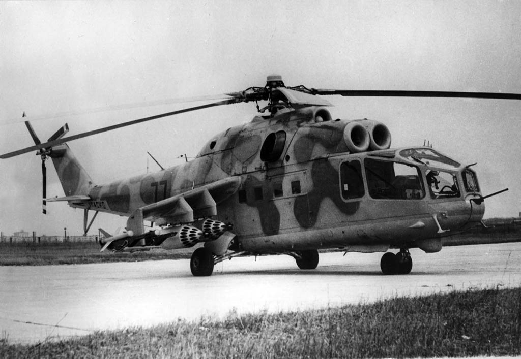 Russian Helicopters Mi-24 Prototype in 1976 (Photo by russianhelicopters.aero)