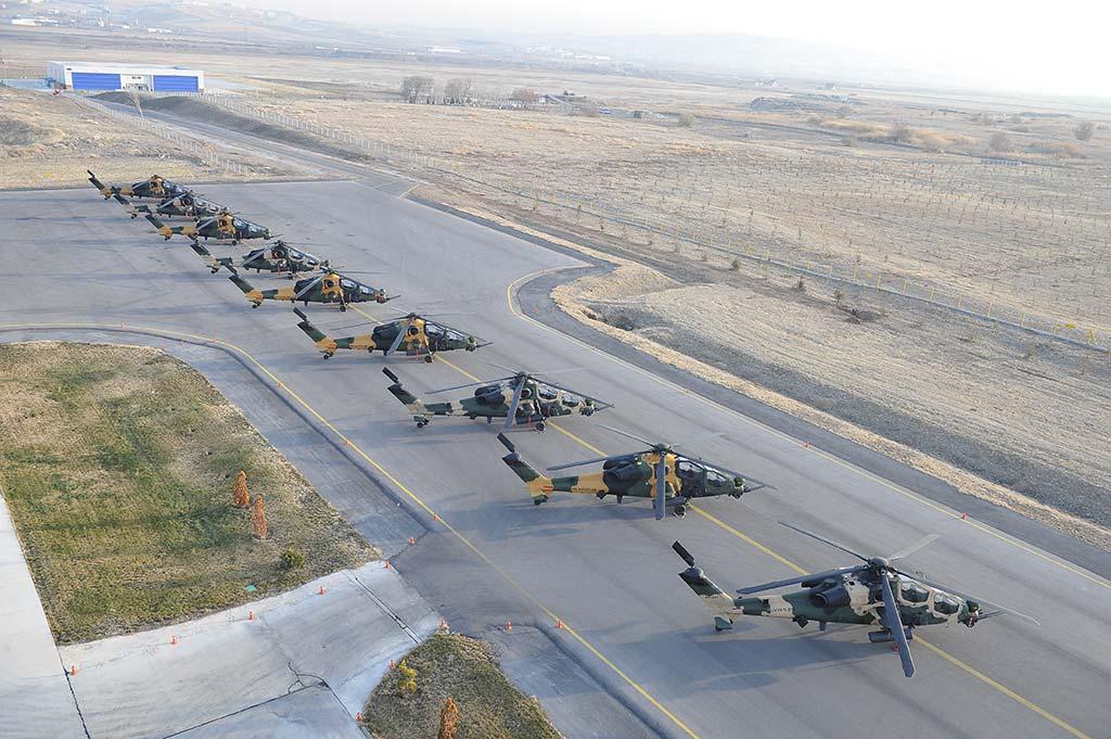 TAI T-129-Atak choppers (Photo by Turkish Aerospace Ind ustries, Inc.)