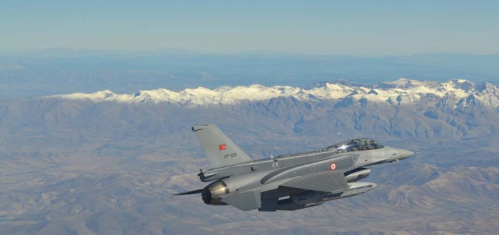 Turkey's air force commander inspected Turkish units and a military air drill on Iraqi and Syrians border. (Photo by Turkish Air Force Command)
