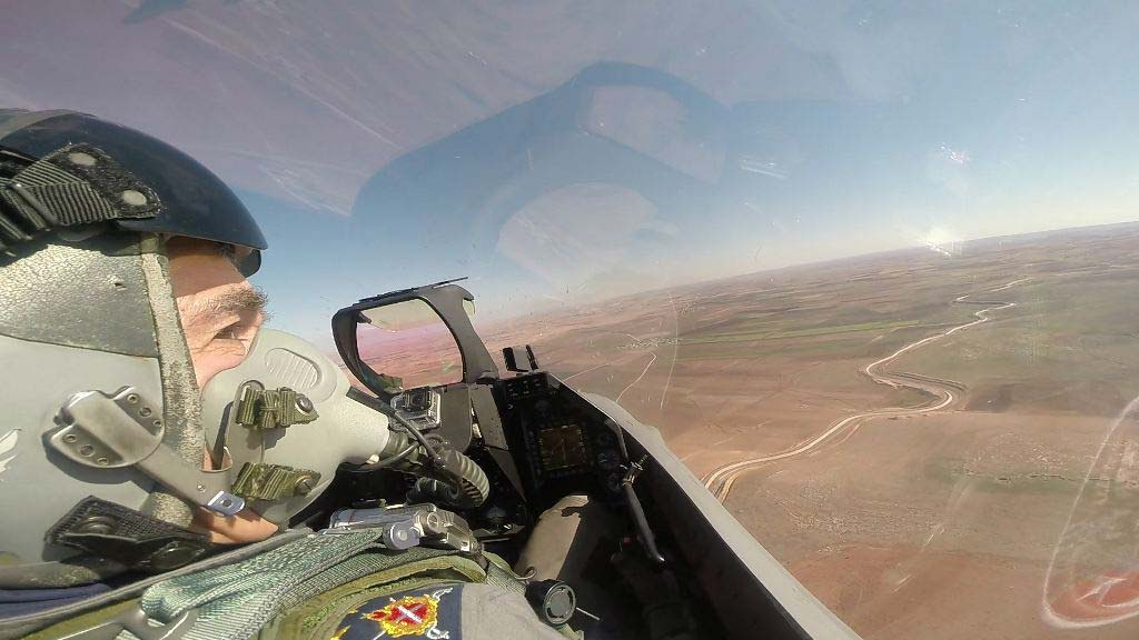Turkish Air Force commander inspected Turkish units and a military air drill on Iraqi and Syrians border. (Photo by Air Force Command)