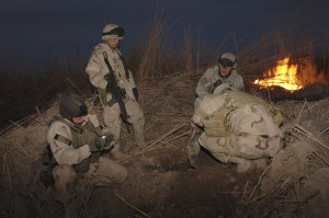 US soldiers finding an IED. Think of how many lives they saved, or possibly saved