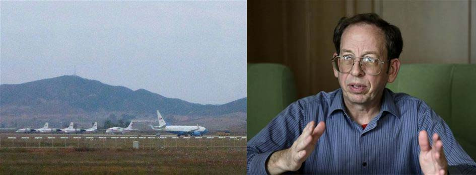 What appears to be a United States Air Force passenger jet, right, is parked on the tarmac of Sunan International Airport in Pyongyang, North Korea, Tuesday, Oct. 21, 2014. The State Department says Jeffrey Fowle, one of three Americans being held in North Korea, has been released. State Department deputy spokeswoman Marie Harf said Fowle was on his was home Tuesday after negotiators left Pyongyang. She said the U.S. is still trying to free Americans Matthew Miller and Kenneth Bae. (AP Photo/Wong Maye-E)  In this Sept. 1, 2014, file photo, Jeffrey Fowle, an American detained in North Korea speaks to the Associated Press in Pyongyang, North Korea. Fowle, one of three Americans being held in North Korea, has been released, the State Department said Tuesday, Oct. 21, 2014. State Department deputy spokeswoman Marie Harf said the U.S. is still trying to free Americans Matthew Miller and Kenneth Bae. (AP Photo/Wong Maye-E, File)