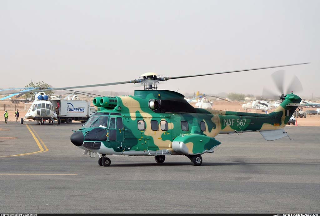 Nigerian Air Force Aerospatiale AS-332 Super Puma (NAF567)