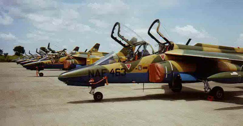 Nigerian Air Force (NAF) Alpha Jet-E (Photo by premiumtimesng.com)