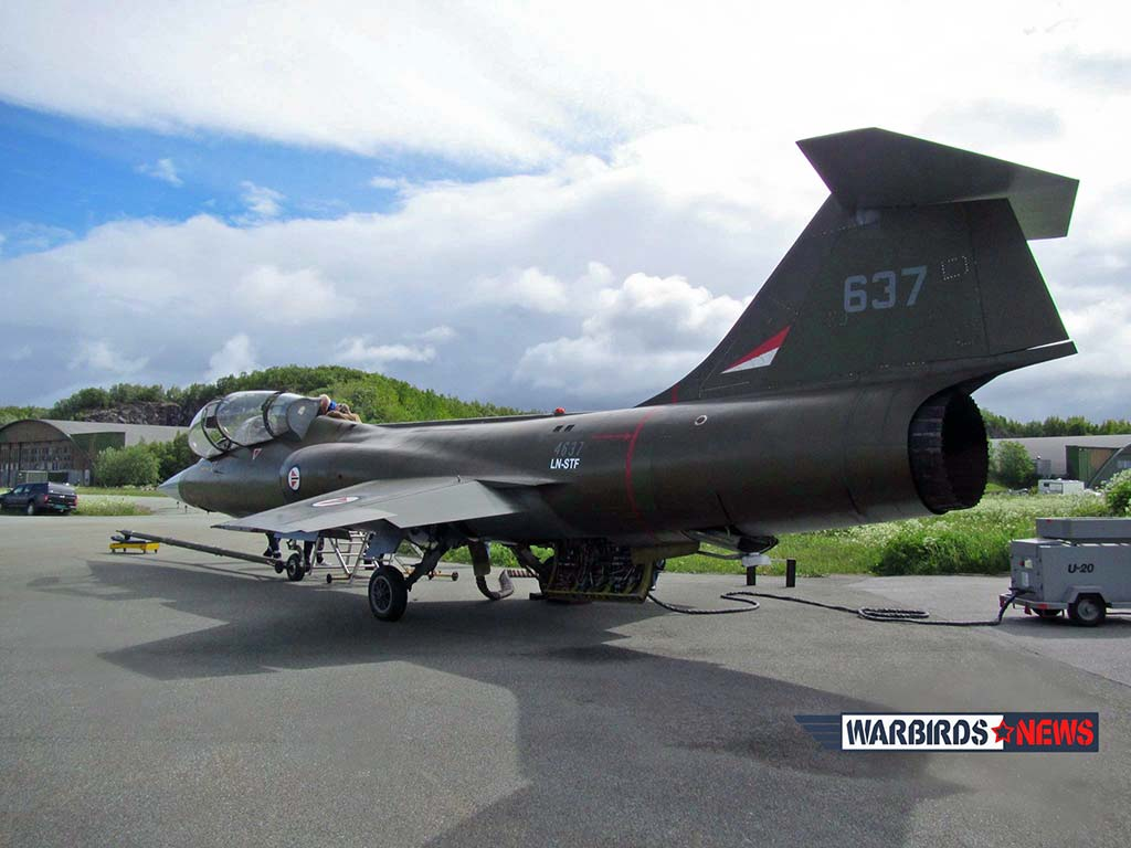 Norwegian Air Force CF-104D Starfighter (Project 637) (Photo by www.warbirdsnews.com)