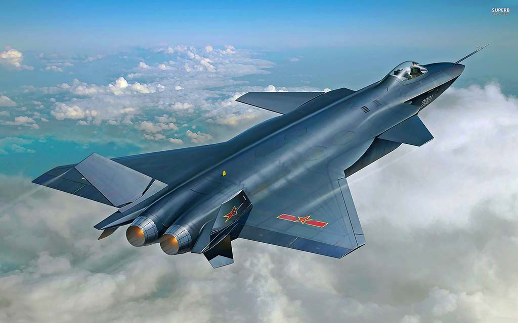 PLAAF Chengdu J-20 (Photo by SUPERB Wallpapers)