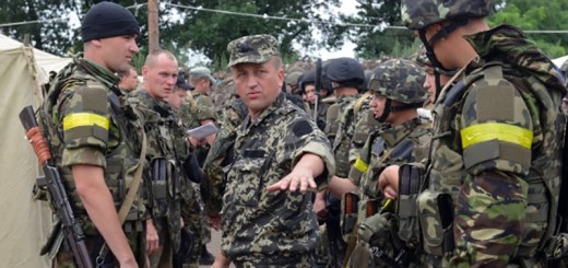 Ukraine separatists troops