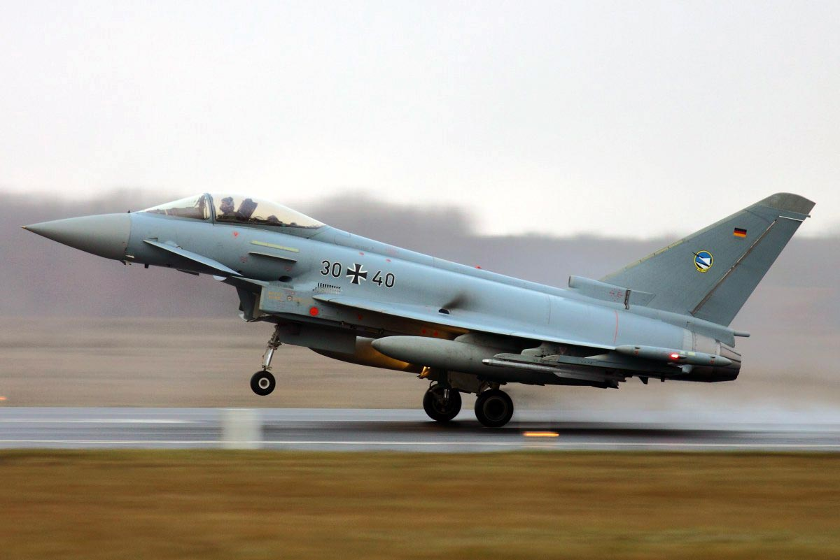 German Air Force Eurofighter Typhoon (30+40) on patrol