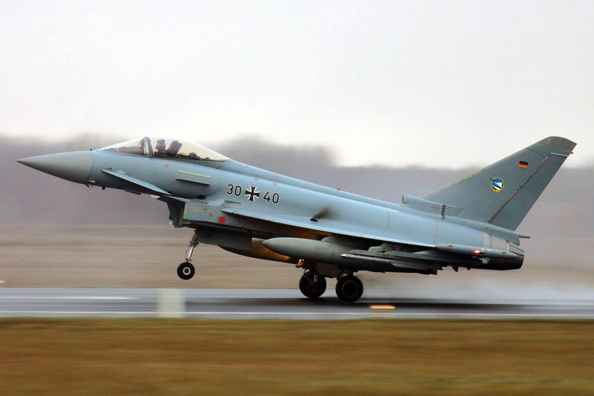 German Air Force Eurofighter Typhoon (30+40) on patrol