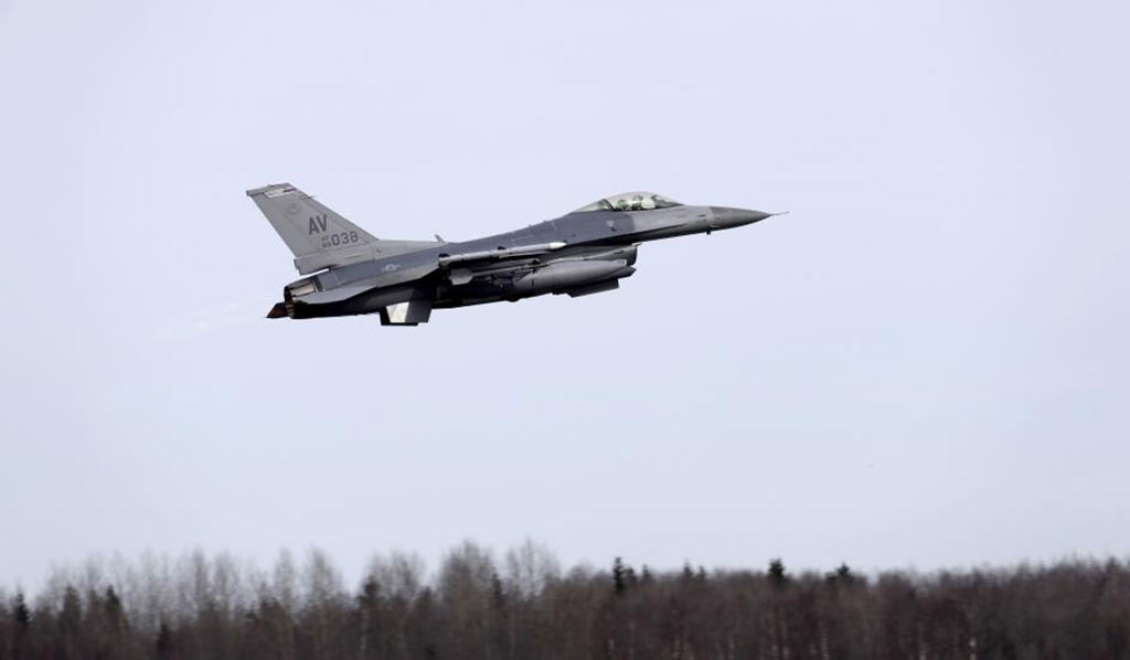The Automatic Ground Collision Avoidance System (Auto-GCAS) last year saved a US Air Force F-16 fighter from crashing after an attack (INTS KALNINS/REUTERS)