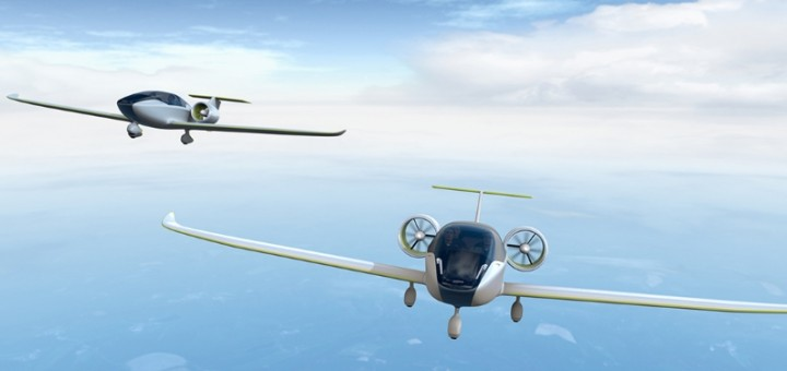 Airbus Group sees the E-Fan programme as a family of aircraft. Planned for service entry in 2018, the E-Fan 2.0 (left) will be configured with side-by-side seating for the instructor and student, while the larger E-Fan 4.0 variant (right) is scheduled to arrive in 2019.