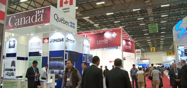 Nearly 30 Canadian companies, the largest group ever here, are part of the Canada pavilion at this year's IDEF (International Defence and Security Industries Fair) in Istanbul, Turkey. (Turgut Yeter/CBC NEWS)