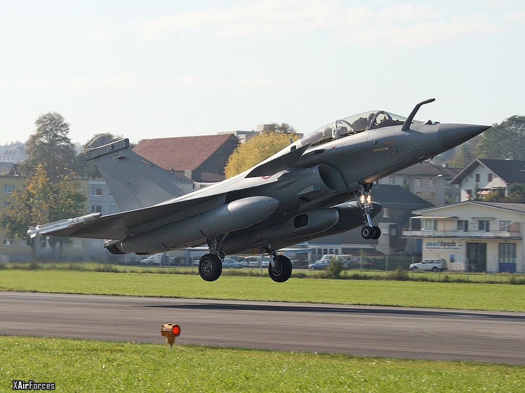 French Air Force Dassault Rafale B 301 in Emmen 2008