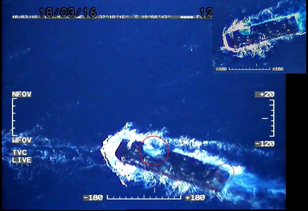 LNA AF MiG-21 hit a barge
