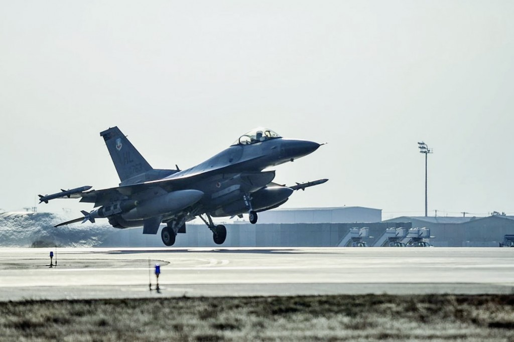 USAF F-16 421st EFS Bagram AB, Afghanistan 01 Feb 2016