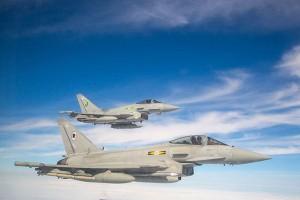 RAF Typhoon. (Crown Copyright. )