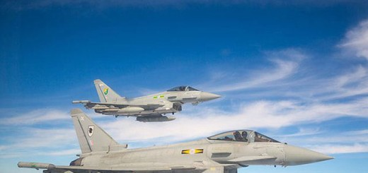 RAF Typhoon. (Crown Copyright. )