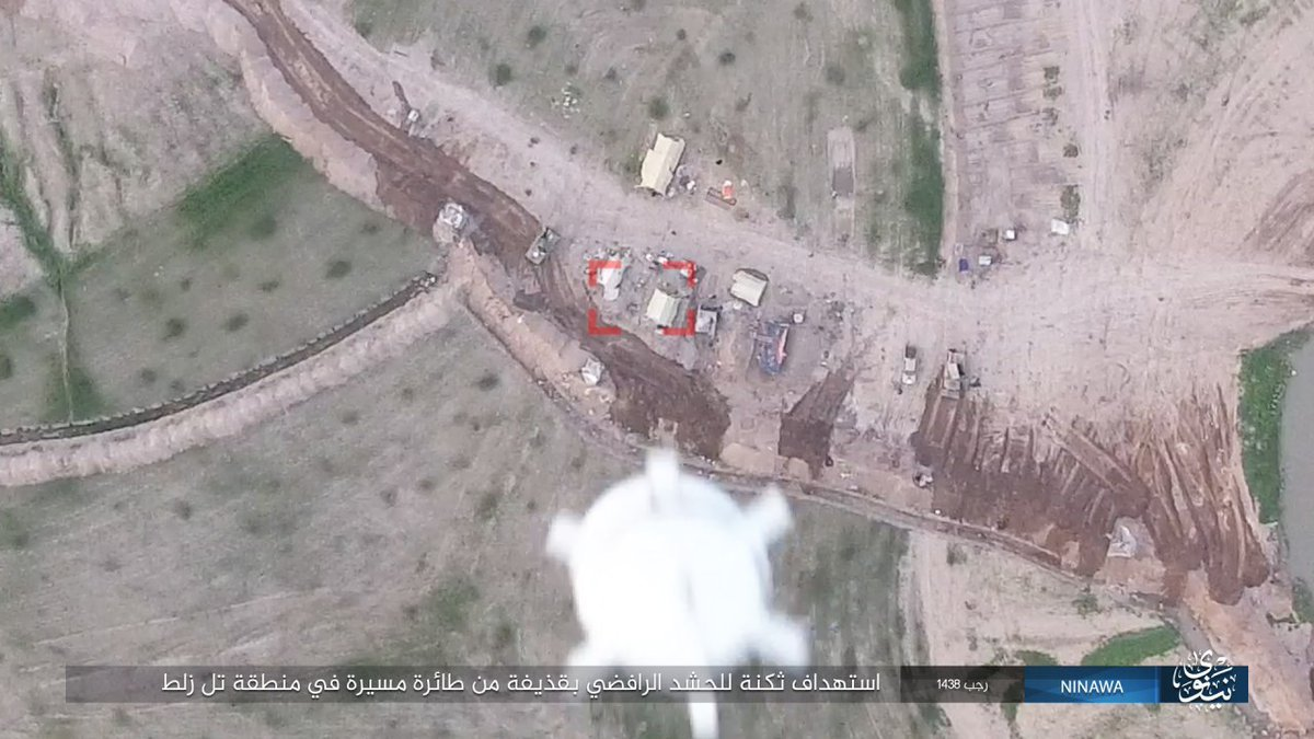 ISIS drone drops bomb