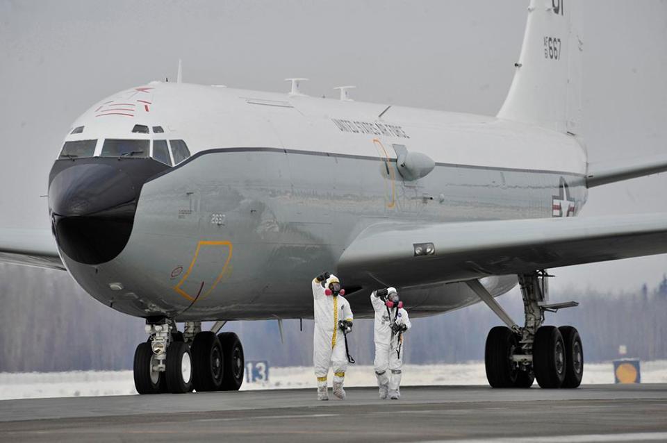 usaf WC-135 Constant Phoenix at RAF Mildenhall