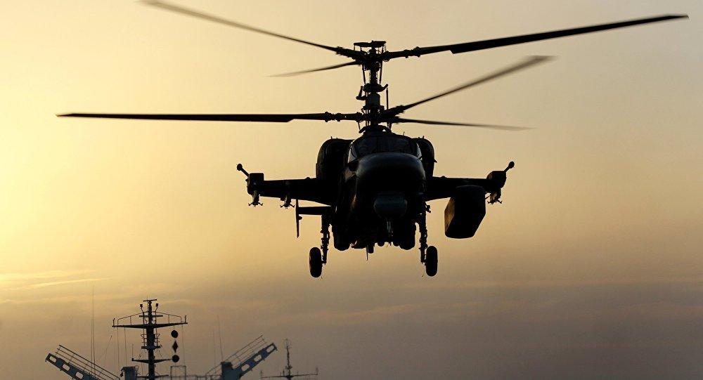 Russian Navy Ka-52K Katran helicopter