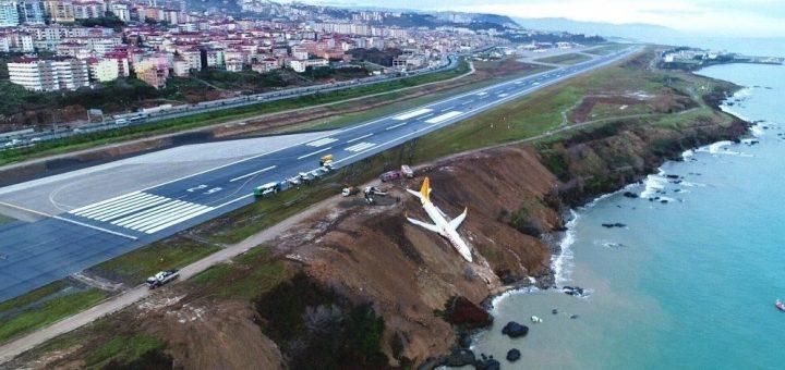 Pegasus flight PC8622 overruns the runway at Trabzon Airport