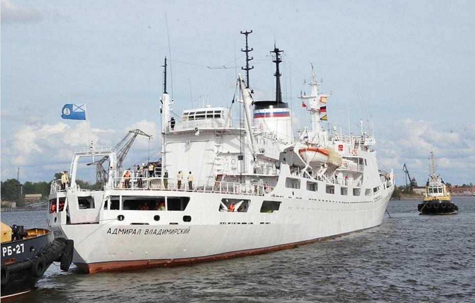 Russian Navy Admiral Vladimirsky research ship