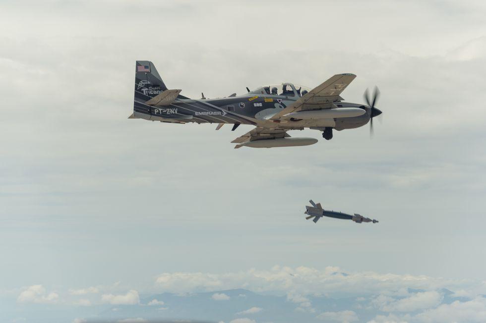 USAF A-29 Super Tucano Light attack plane