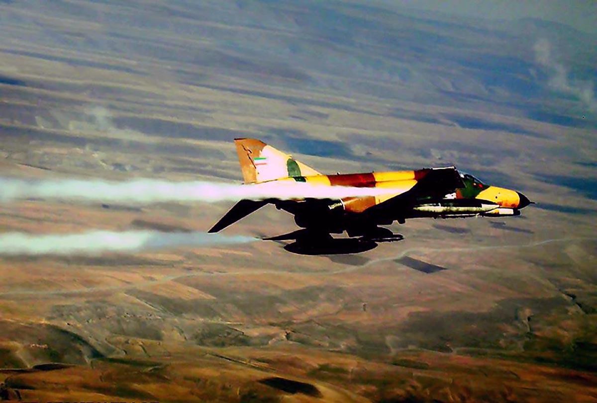 1980s IRIAF F-4E Phantom II flying high