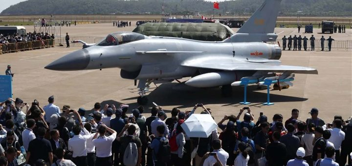 China new J-10 fighter jet