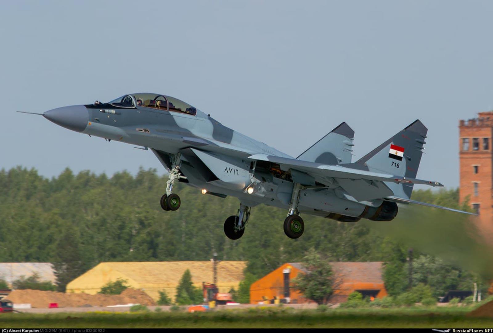 Egyptian Air Force (EAF) MiG-29 (716) multirole fighter Jet