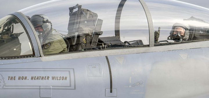 US Air Force Secretary Heather Wilson F-15D Eagle