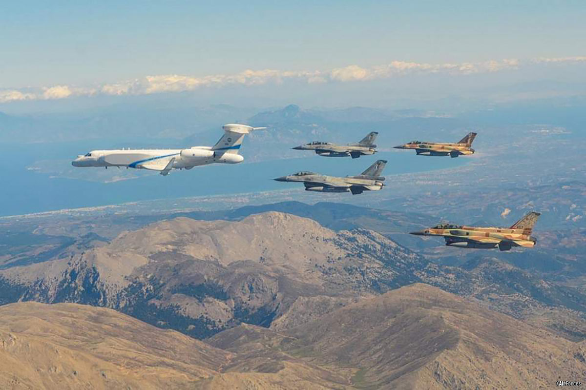 HAF with ?srael Air Force over Greece