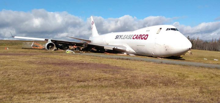 Sky Lease Cargo Boeing 747-412F accident at Halifax. 7 Nov 2018