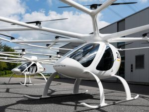 Singapore Skyline adac Volocopter Air Taxis