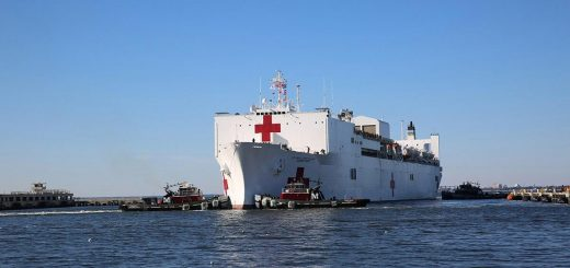 US Navy Military Sealift Command's hospital ship USNS Comfort (T-AH 20)