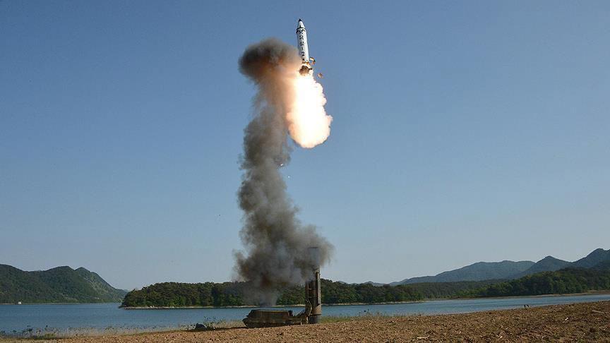 North Korea test fires 'missiles'