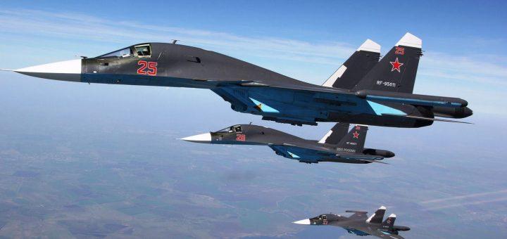 Sukhoi Su-34 jets