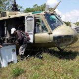 The Philippine Air Force (PAF) Bell UH-1H Huey delivered election paraphernali.