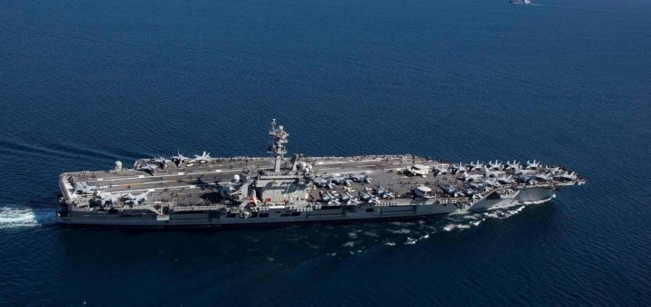 The U.S. Navy Nimitz-class aircraft carrier USS Abraham Lincoln (CVN 72)