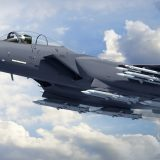 The US Air Force Boeing F-15 Strike Eagle
