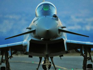 The Royal Air Force (RAF) Typhoon jet