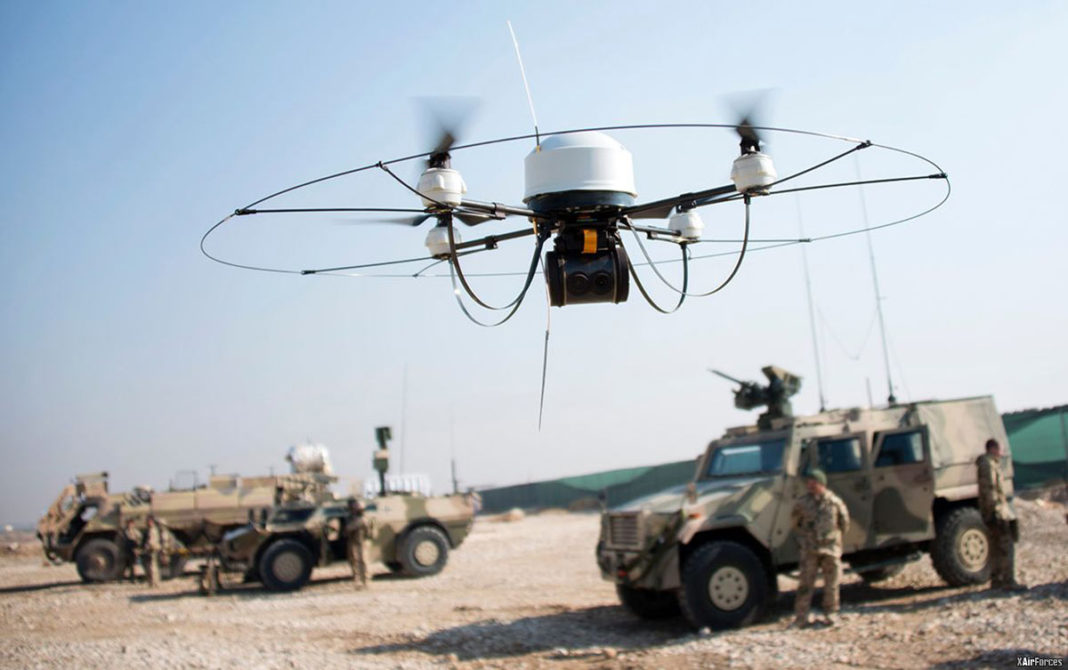German Army drone built by a German company flies in Afghanistan.