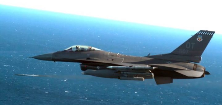 US Air Force F-16C C flown by Maj Jeffrey Entine