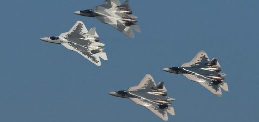 Russian Air Force Sukhoi Su-57 Felon fighter jets