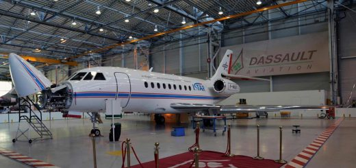 German Aerospace Center Dassault DLR IS­TAR re­search air­craft 20 February 2020.