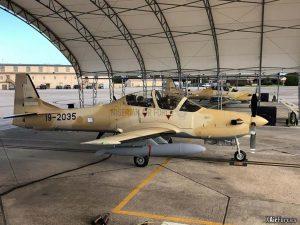 Nigerian Air Force A-29 Super Tucano (19-2035 with 2034), 30 November 2020